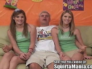 Dualing Pornography Star Squirting Twin Sisters!