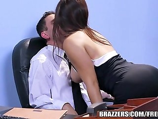 Brazzers - Office pantyhose  threesome