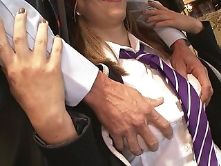 Inspector fucks naughty schoolgirls in a college