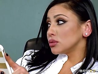 Teacher Audrey Bitoni gets a hard fucking in detention. PornerBros