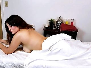 Shy Brunette Kennedy Gets A Massage