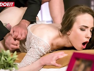 LETSDOEIT - Russian Teen Angel Rush Fucks With Her Elderly BF While He Speaks At The Phone During Sex