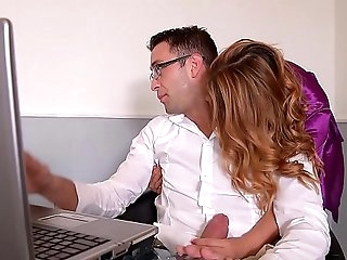 Kinky Wifey Ani Blackfox Fucked hard by Remote work Husband