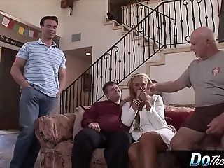 Blonde wifey likes ravaging a porn stud