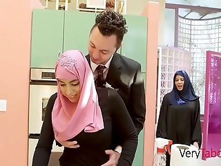 Arab Daughter In Hijab Ravages Father- Ella Knox