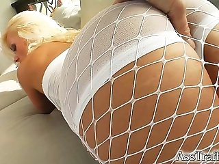 Ass Traffic Elastic ass girl gets massive ass fuck and nectar