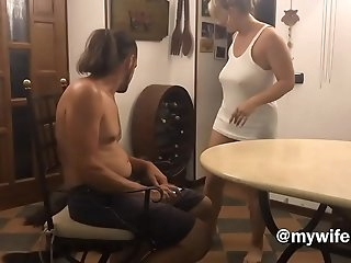 Before going to sleep her aunt wants her good dose of cock