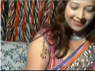 Horny Desi Aunt in front of webcam