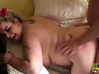British bbw sub dominated with christmas dick