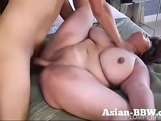 BBW Asian with Gigantic Tits Fucked by Camera operator - more at BBW-Asian.com