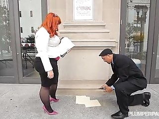 Big Booty BBW Redhead Tiffany Starlet Fucks Her New Manager